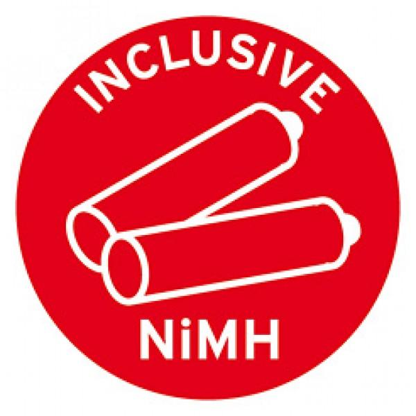 Lieferung inklusive 3 wieder aufladbarer und austauschbarer NiMH Mignon AA Akkus