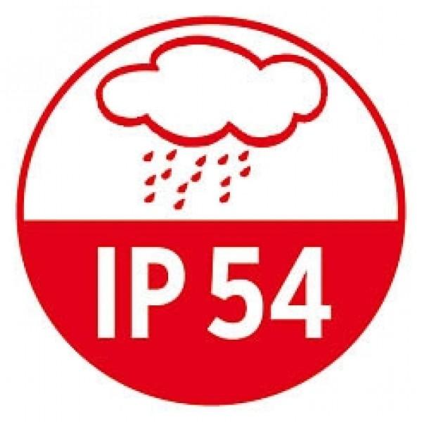 Wie IP44 (spritzwassergeschützt) für den Außenbereich + schützt zusätzlich vor Staub