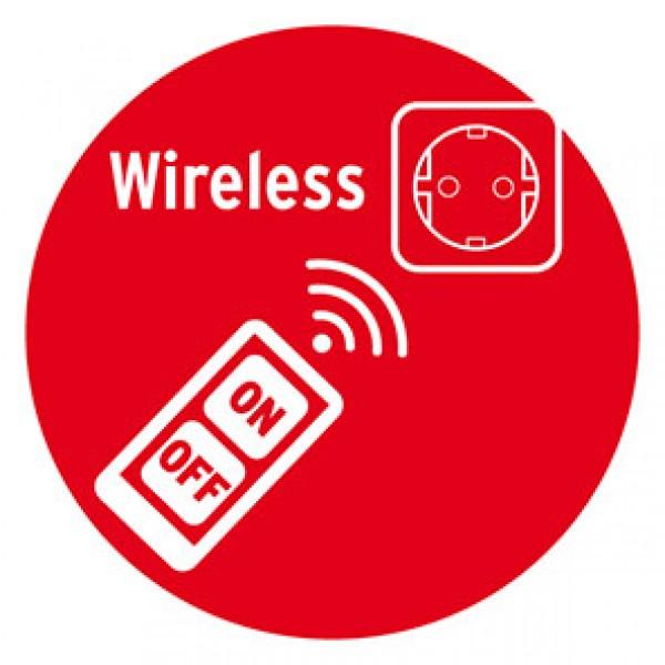 Funksteuerung mit einer Reichweite bis zu 25 m und der Frequenz von 433,92 MHz