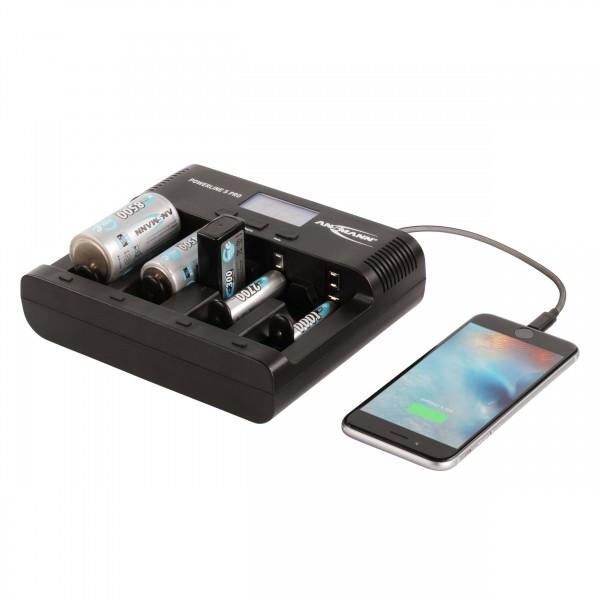 Powerline 5 Pro Ladeger??t - Anwendungsbeispiel mit Akkus, Smartphone