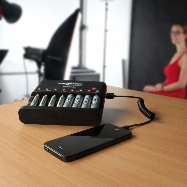 ANSMANN Tischladeger??t Powerline 8 - Anwendungsbeispiel - Akkus - USB