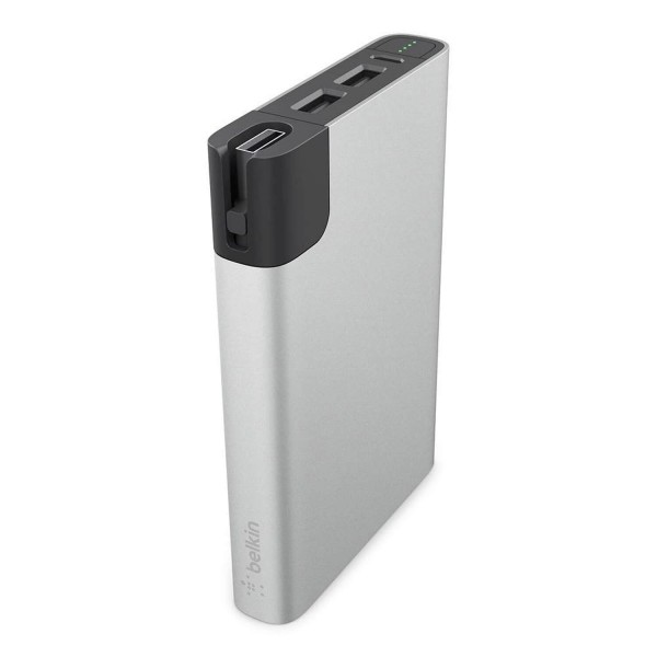 Belkin Premium RockStar Metallic Power Bank, 10000mAh, silber