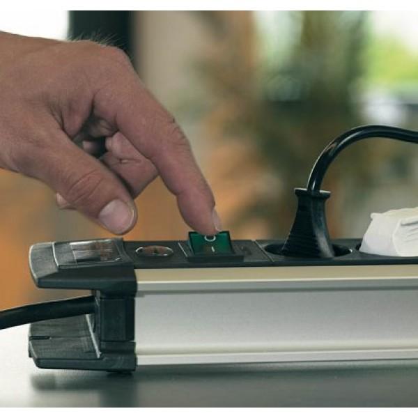 Brennenstuhl Premium-Alu-Line Steckdosenleiste mit 2 Schaltern