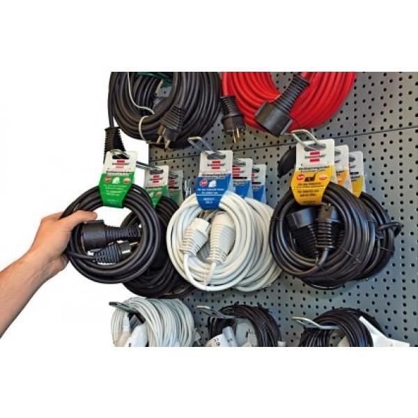 Qualitäts-Kunststoff-Verlängerungskabel 2m weiß IP20 H05VV-F 3G1,5