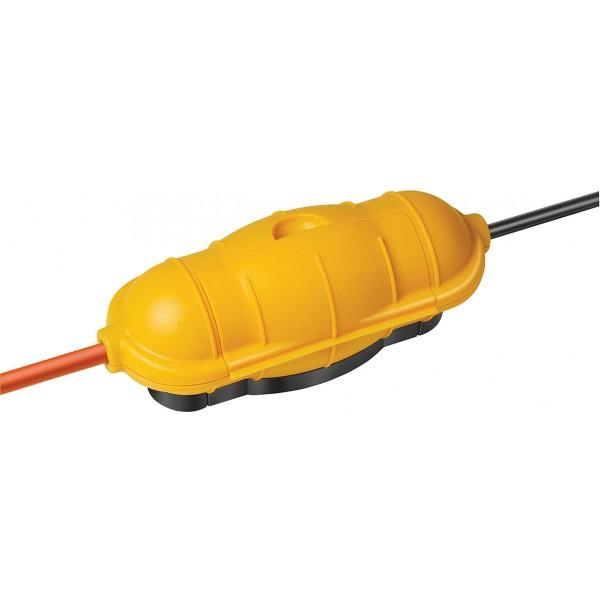 Brennenstuhl Safe-Box Schutzkapsel f??r Kabelverbindungen, IP44, extra gro??, gelb