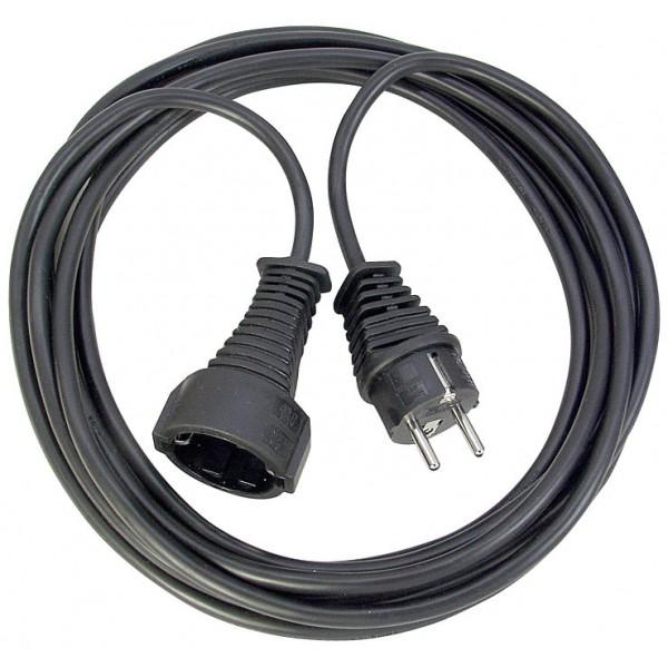 Brennenstuhl Qualitäts-Kunststoff-Verlängerungskabel 3m schwarz IP20 H05VV-F 3G1,5