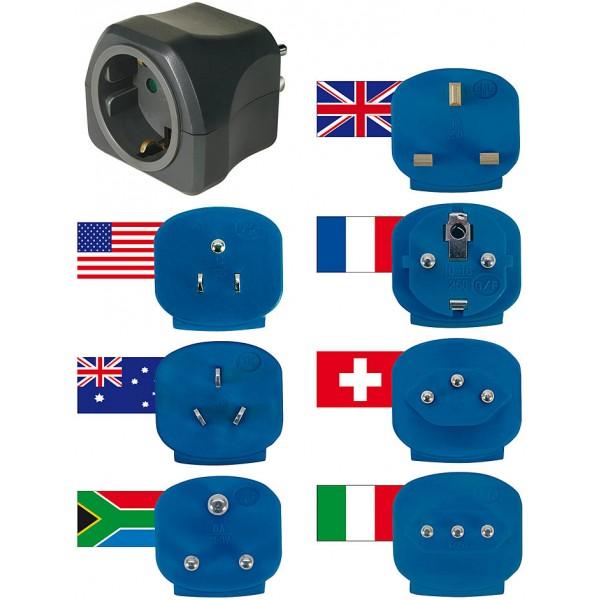 Brennenstuhl Reisestecker von Schutzkontakt über 150 Länder weltweit