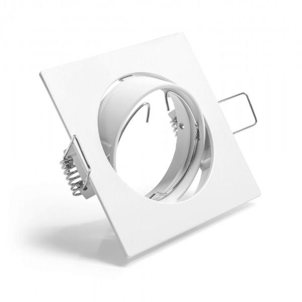 Schwenkbarer Einbauring für LED Spots–quadratisch–weiß
