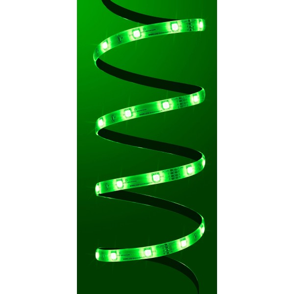 Premium 24V RGB LED Streifen 30 LED/m - in grün