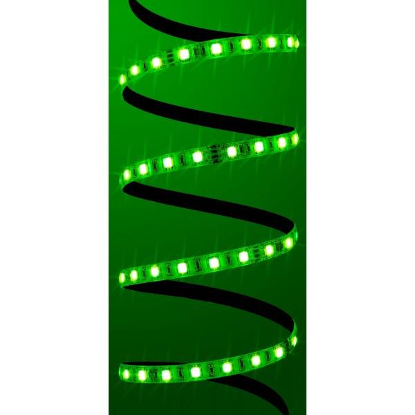 Premium 24V RGB LED Streifen 60 LED/m Set - grün