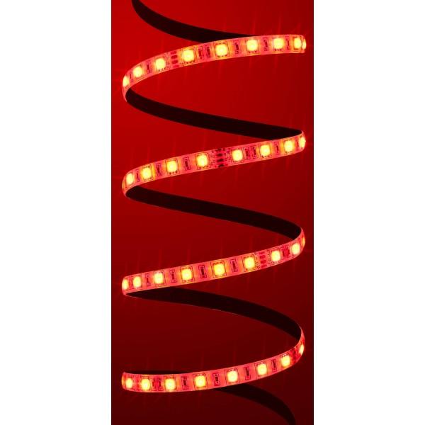 Premium 24V RGB LED Streifen 60 LED/m Set - rot