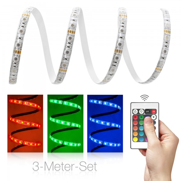 Comfort 12V RGB LED Streifen 3m Set 60 LED/m