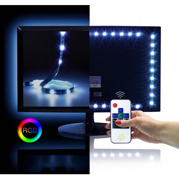 Fernseher Hintergrundbeleuchtung Mit RGB LED Streifen