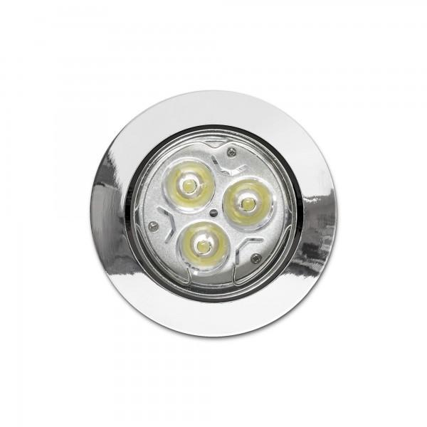 Schwenkbarer Einbauring f??r LED Spots?????????rund?????????Chromoptik?????????Draufsicht (Lieferung OHNE Leuchtmittel!)