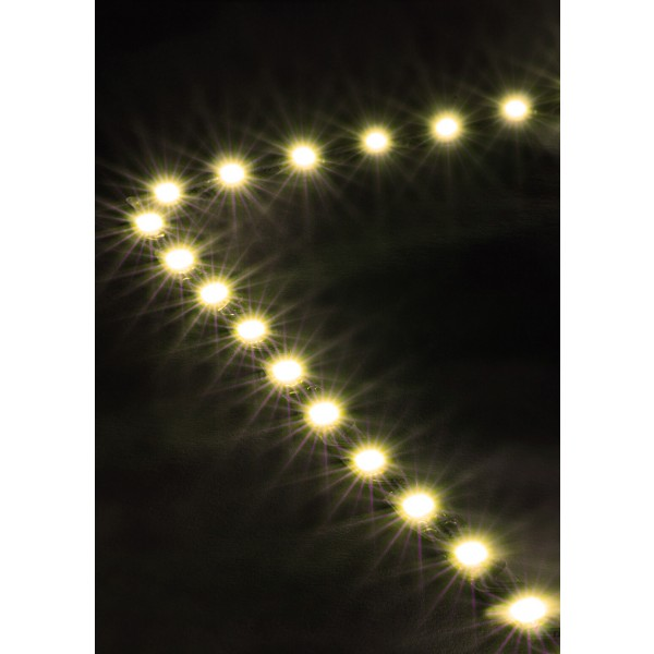 Premium 24V S-Shape Streifen Set - 72 LED/m - warmweiß - Anwendung Ecke
