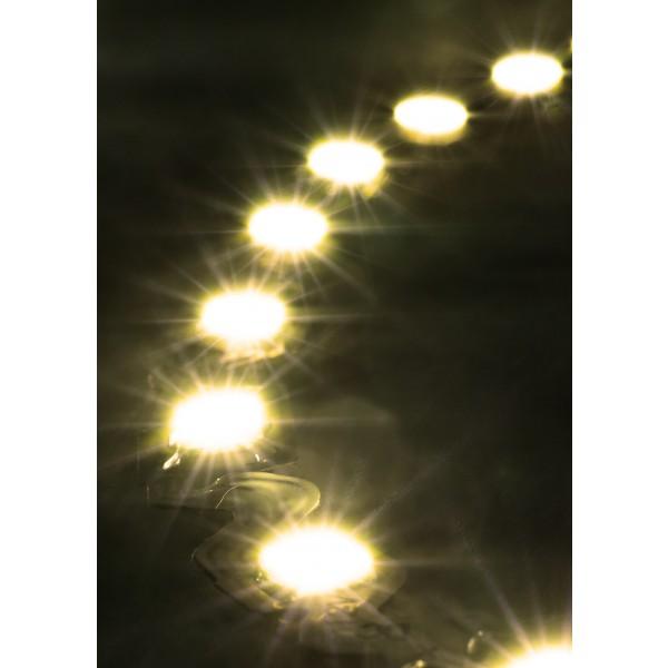 Premium 24V S-Shape Streifen Set - 72 LED/m - warmweiß - Anwendung Kurve