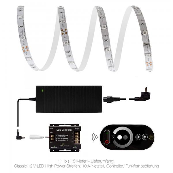 Classic 12V LED Streifen Set bernstein 30 LED/m 11 bis 15 Meter