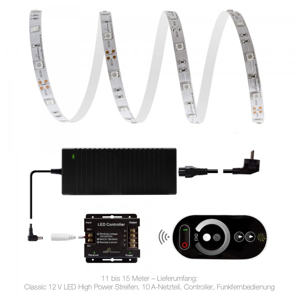 Classic 12V LED Streifen Set rot 30 LED/m - 11 bis 15 Meter