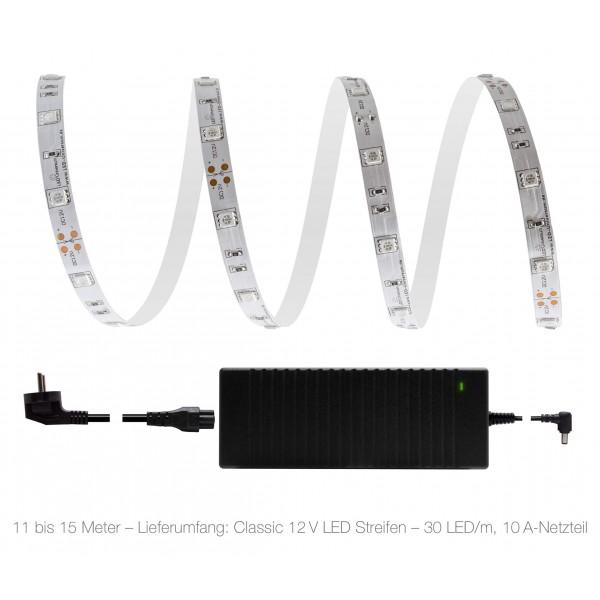 Classic 12V LED Streifen Set rot 30 LED/m - 10 bis 15 Meter