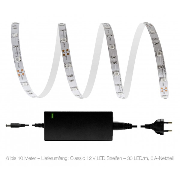 Classic 12V LED Streifen Set grün 30 LED/m - 6 bis 10 Meter