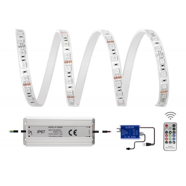Set-Inhalt Comfort 12V RGB LED Streifen 5m 60 LED/m