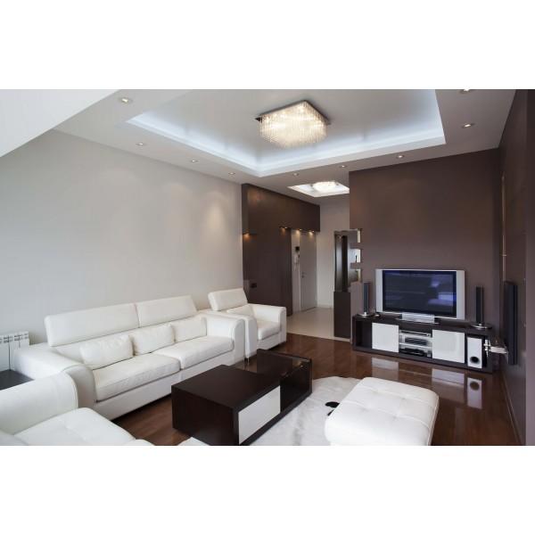 Anwendungsfoto LED Streifen kaltweiß in der Wohnstube
