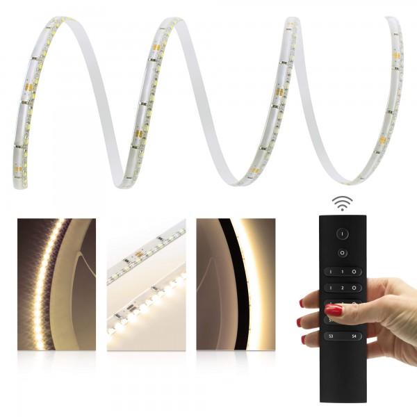 Premium LED SideView Streifen warmweiß 120 LED/m - mit Funkfernbedienung