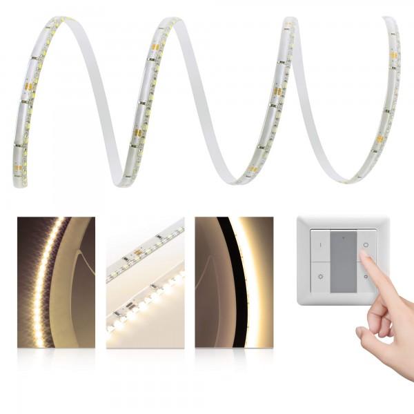 Premium LED SideView Streifen warmweiß 120 LED/m - mit Funklichtschalter