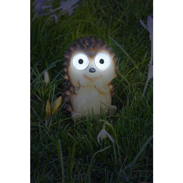 """Gartendeko LED Solarfigur """"Igel"""" leuchtend"""