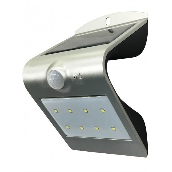 SolarWave15-Alu-Silber Sensorleuchte