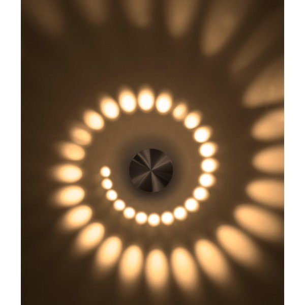 LED Spiralleuchte Stella ??? Anwendungsbeispiel Wandleuchte in warmwei??