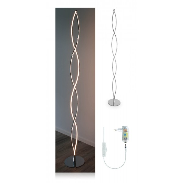 Elegante LED Stehleuchte Halma - Setbild