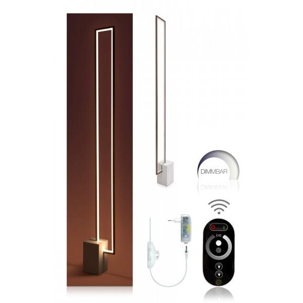 Urbane LED Stehleuchte Nunia - Set mit Touch Funkfernbedienung