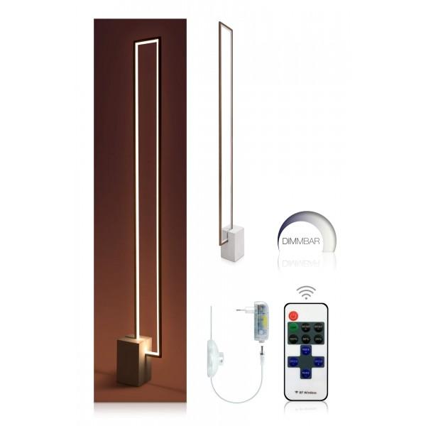 Urbane LED Stehleuchte Nunia - Set mit 11-Tasten-Funkfernbedienung