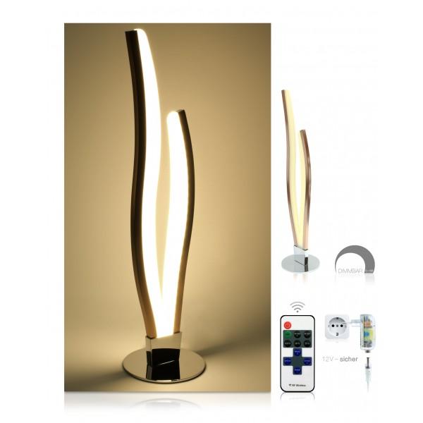LED Tischlampe Finn - Set - dimmbar mit 11-Tasten-Fernbedienung