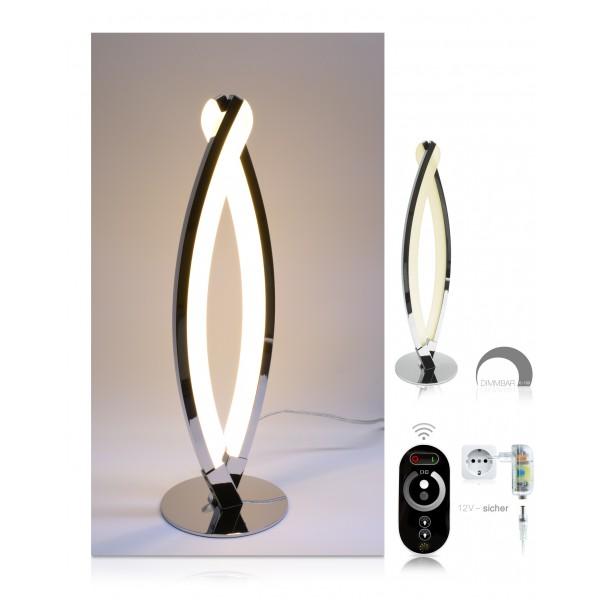 LED Tischlampe Jonas - Set - dimmbar mit Touch-Funkfernbedienung