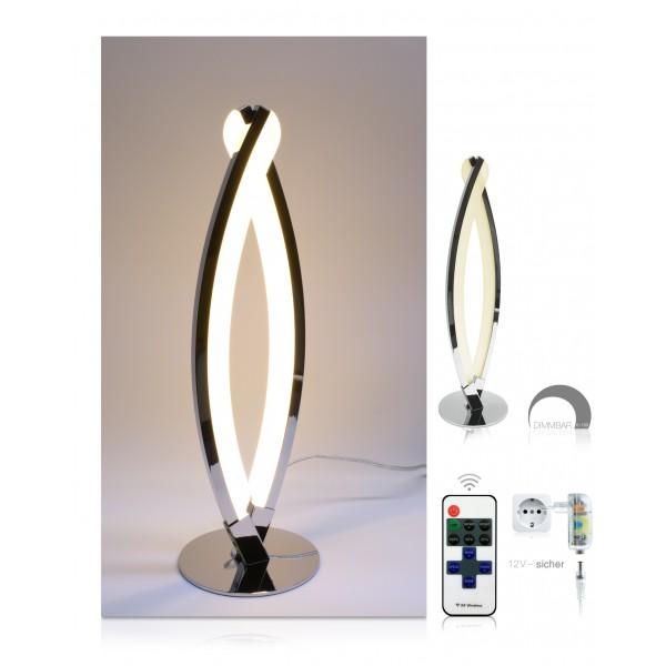 LED Tischlampe Jonas - Set - dimmbar mit 11-Tasten-Fernbedienung