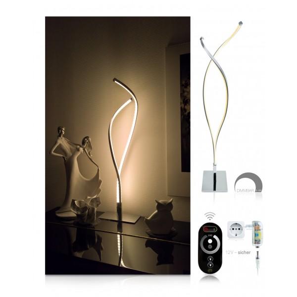 LED Tischlampe Lilly - Set - dimmbar mit Touch-Funkfernbedienung