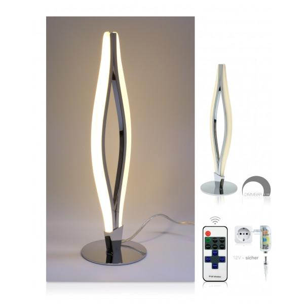 LED Tischlampe Miro - Setbild - dimmbar mit 11-Tasten-Fernbedienung