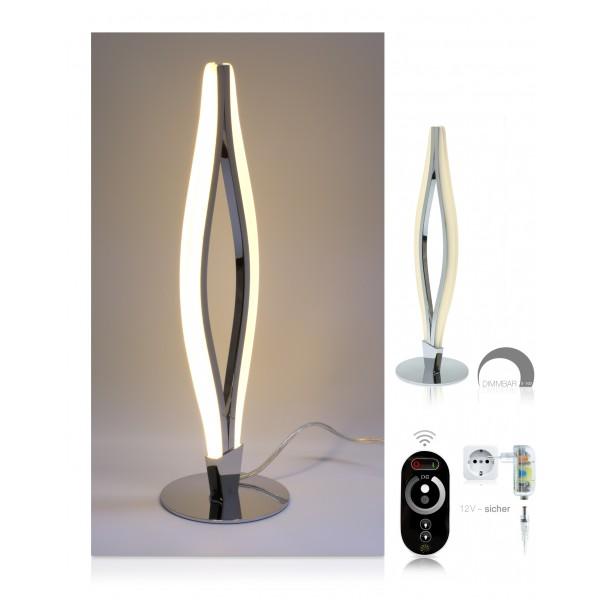 LED Tischlampe Miro - Setbild - dimmbar mit Touch-Funkfernbedienung
