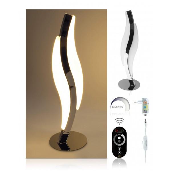 LED Tischleuchte Notas - optionaler Lieferumfang: 12 V Netzteil, Touch-Funkfernbedienung