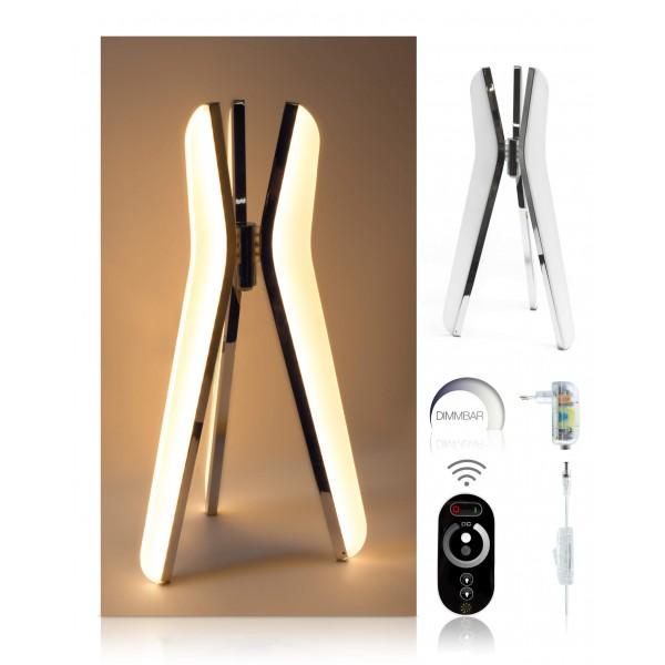 LED Tischleuchte Triilo - optionaler Lieferumfang: 12 V Netzteil, Touch-Funkfernbedienung