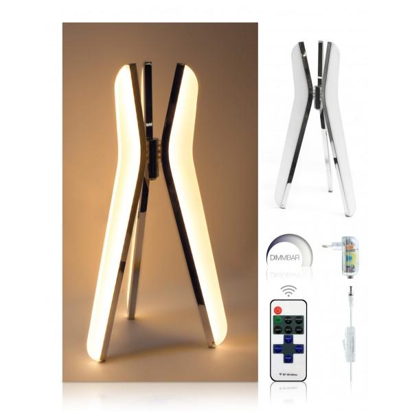 LED Tischleuchte Triilo - optionaler Lieferumfang: 12 V Netzteil, 11-Tasten-Fernbedienung
