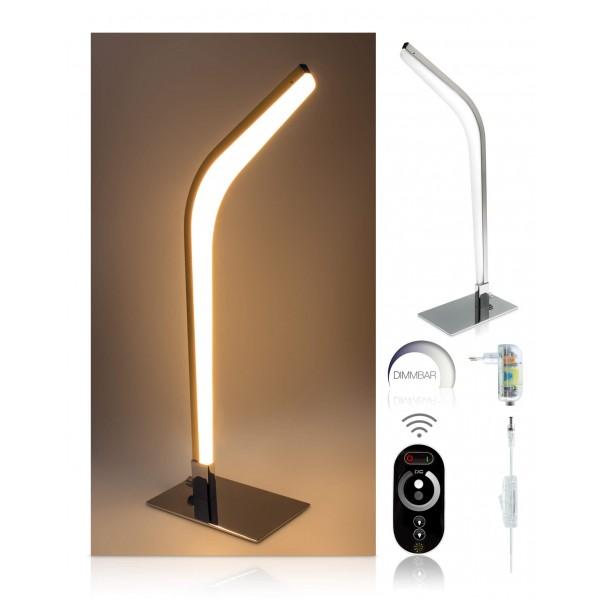 LED Tischleuchte Vaala - optionaler Lieferumfang: 12 V Netzteil, Touch-Funkfernbedienung