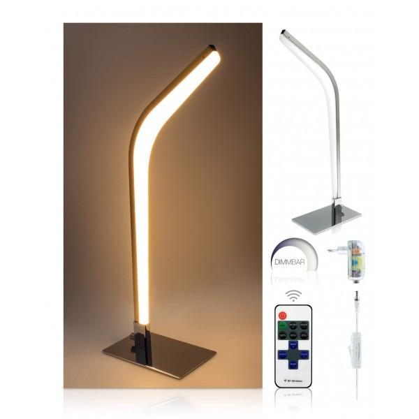 LED Tischleuchte Vaala - optionaler Lieferumfang: 12 V Netzteil, 11-Tasten-Fernbedienung