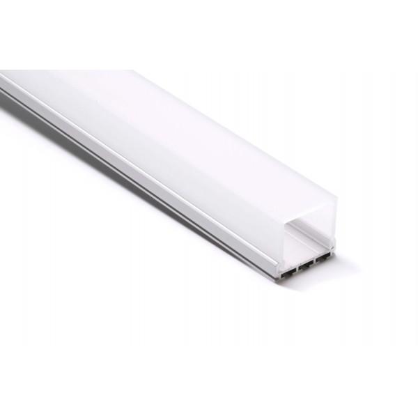 U-Profil | 26 x 10mm | Eloxiertes Aluminium | Matte Blende | Montageklammern - 1 Meter Länge