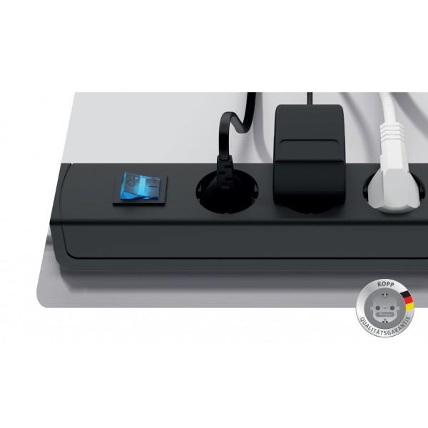 Kopp UNOversal Steckdosenleiste mit Schalter - Cleverer Stromschalter f??r Deine Ger??te, die im Standby Energie verbrauchen