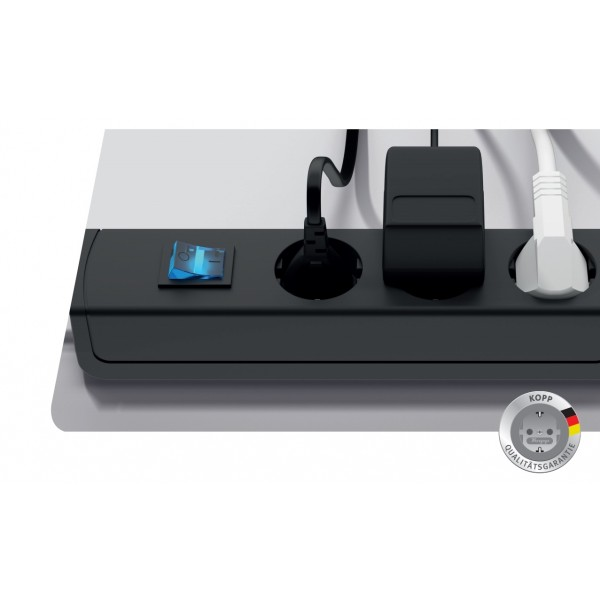Kopp UNOversal Steckdosenleiste mit Schalter - Cleverer Stromschalter für Deine Geräte, die im Standby Energie verbrauchen