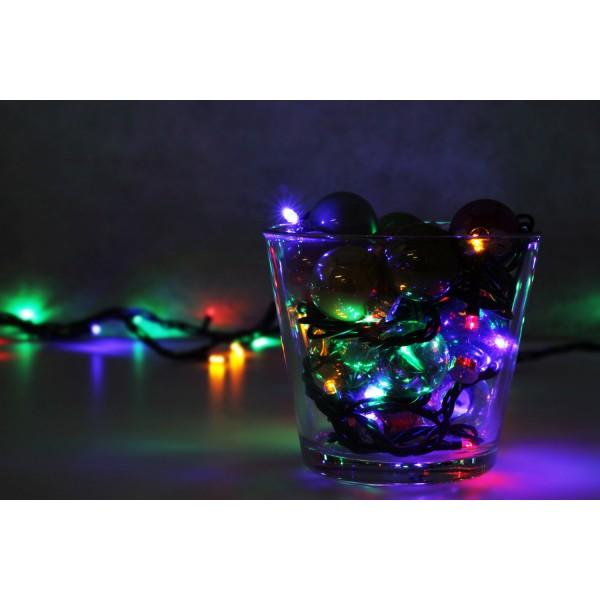 Weihnachtsbeleuchtung LED Lichterkette mahrfarbig - Dekorationsvorschlag