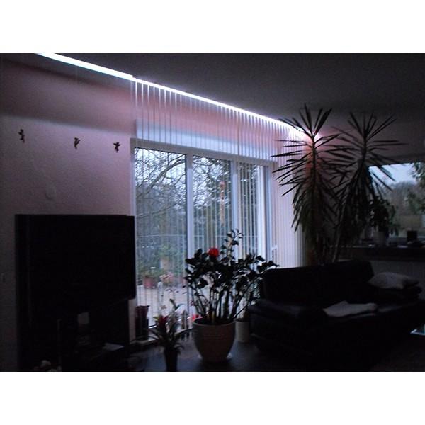 Sehr heller kaltweißer LED Streifen (120 LED/m, IP65, 12V) inkl. Controller, Funkfernbedienung und Netzteil – Länge selbst konfigurieren (1 - 12 Meter) (Default)
